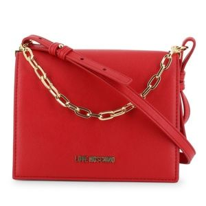 Red LOVE MOSCHINO Chain Crossbody Bag Purse